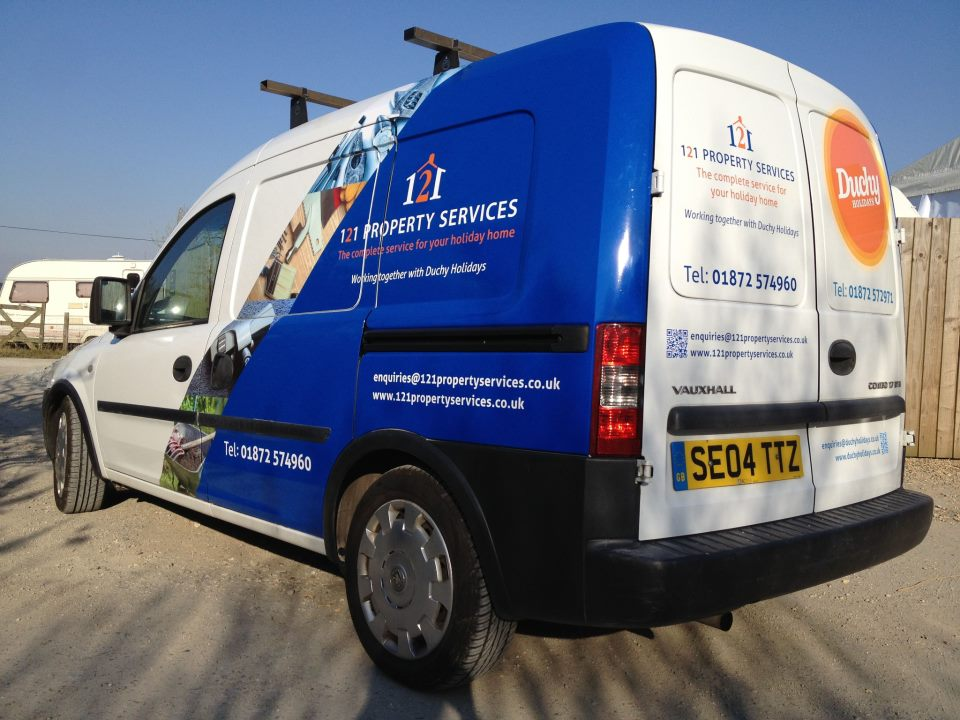 121 Property Service Vehicle Graphic